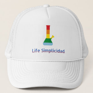 Regenbogen-Bong bis zum dem Leben Simplicidad u. Truckerkappe