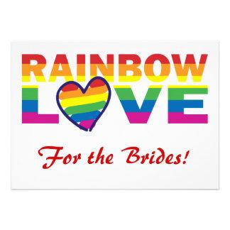 Regenbogen-Brautdusche für die Bräute Individuelle Ankündigskarten