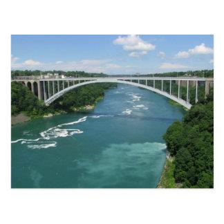 Regenbogen-Brücke, Niagara Falls Postkarte