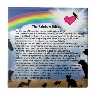 Regenbogen-Brücken-Gedicht Keramikfliese