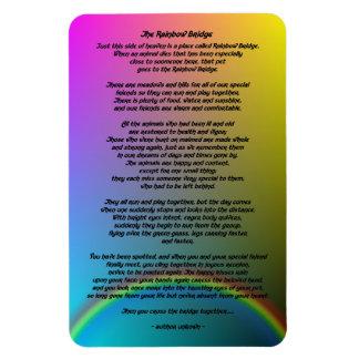 Regenbogen-Brücken-Haustier-Gedicht Magnet