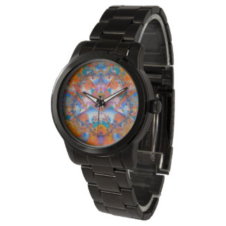 Regenbogen-Brücken-psychedelisches Fraktal Armbanduhr