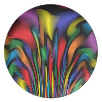 Regenbogen-Brunnen Teller