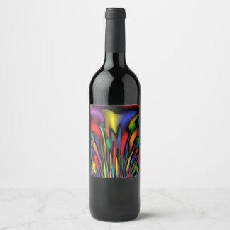 Regenbogen-Brunnen Weinetikett