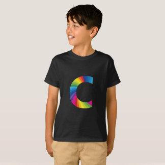 """Regenbogen-Buchstabe-""""C für Kind"""" Hanes TAGLESS® T T-Shirt"""
