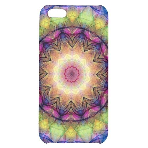 Regenbogen-Buntglas iPhone 5C Cover