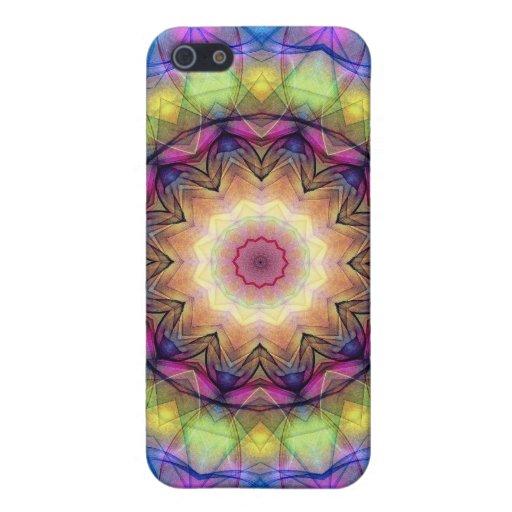 Regenbogen-Buntglas iPhone 5 Hülle
