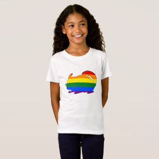 Regenbogen-Chinchilla T-Shirt