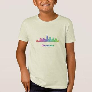 Regenbogen-Cleveland-Skyline T-Shirt