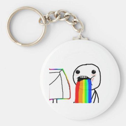 Regenbogen-Computergesicht Schlüsselanhänger