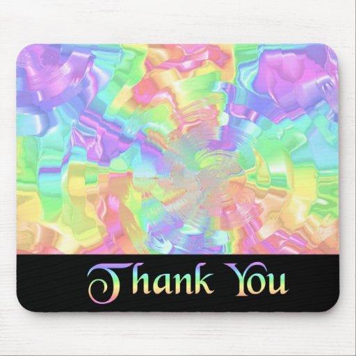 Regenbogen danken Ihnen Mousepad