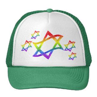 Regenbogen-Davidsstern Hüte Trucker Mütze
