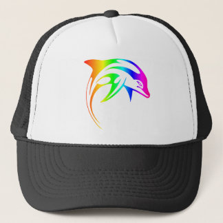 Regenbogen-Delphin Truckerkappe