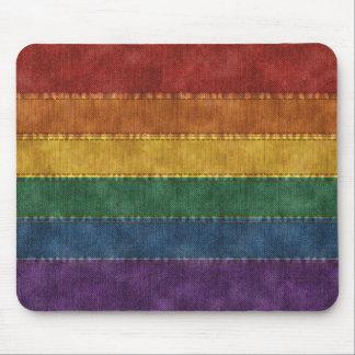 Regenbogen-Denim-Flagge Mousepad