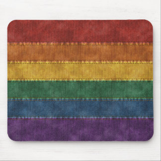 Regenbogen-Denim-Flagge Mousepads