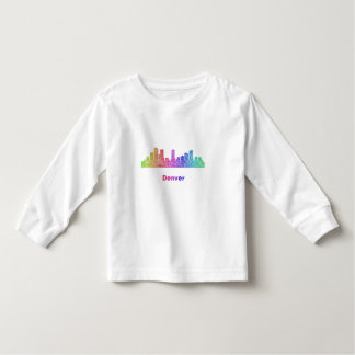 Regenbogen-Denver-Skyline Kleinkind T-shirt