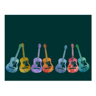 Regenbogen der Gitarren Postkarte