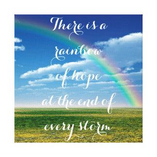 Regenbogen der Hoffnung Leinwanddruck