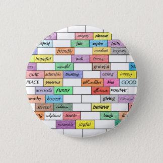 Regenbogen der inspirierend Graffiti Runder Button 5,7 Cm