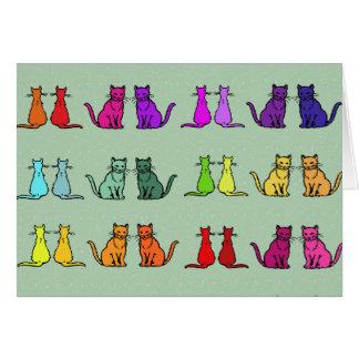 Regenbogen der Katzen Karte