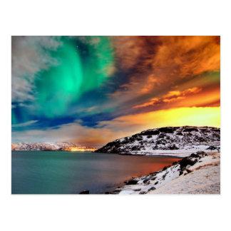 Regenbogen der Lichter Postkarte