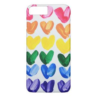 Regenbogen der Liebe - Spaß-bunte handgemalte iPhone 8 Plus/7 Plus Hülle