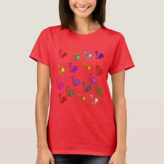 Regenbogen der Truthähne T-Shirt