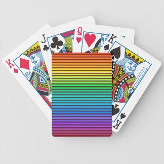 Regenbogen des Hintergrundes V Bicycle Spielkarten