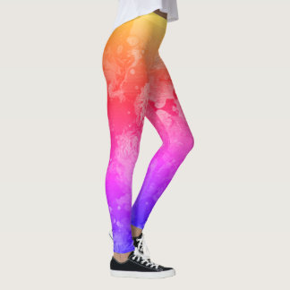 Regenbogen-Dunst Leggings