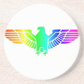 Regenbogen Eagle 6 Untersetzer