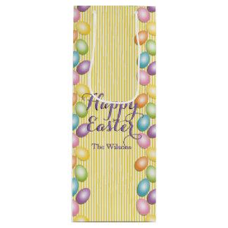 Regenbogen Eggs Namen oder Geschäft Ostern Geschenktüte Für Weinflaschen