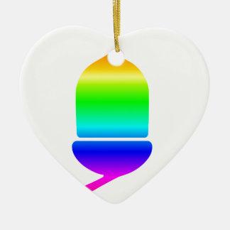 Regenbogen-Eichel Keramik Ornament