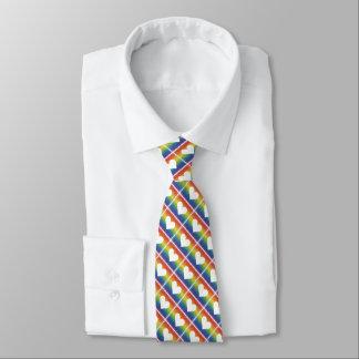 Regenbogen-Einheits-Herz Bedruckte Krawatte