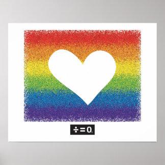 Regenbogen-Einheits-Herz Poster