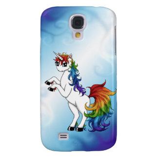 Regenbogen-Einhorn Galaxy S4 Hülle