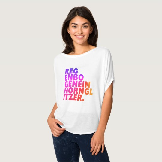 Regenbogen + Einhorn + Glitzer = Perfektion T-Shirt