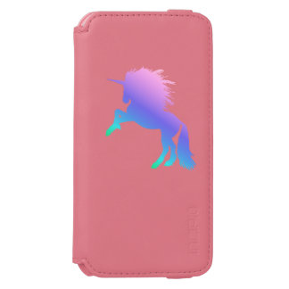 Regenbogen-Einhorn-Koralle/rosa iPhone 6/6s Incipio Watson™ iPhone 6 Geldbörsen Hülle