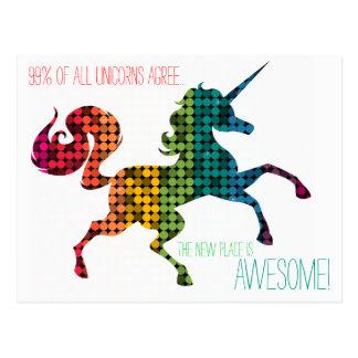 Regenbogen-Einhorn-kundenspezifische Postkarte