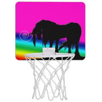 Regenbogen-Einhorn Mini Basketball Netz