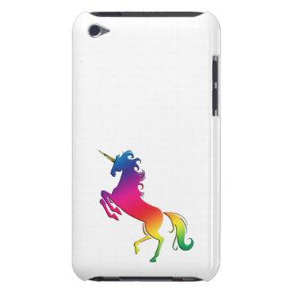 Regenbogen-Einhorn mit Goldhorn Barely There iPod Hülle