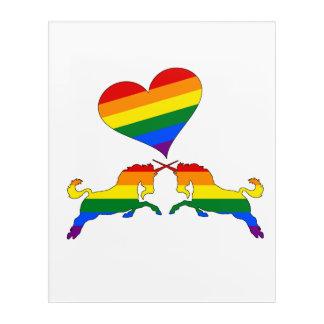 Regenbogen-Einhörner Acryldruck