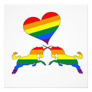 Regenbogen-Einhörner Fotodruck