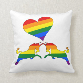 Regenbogen-Einhörner Kissen