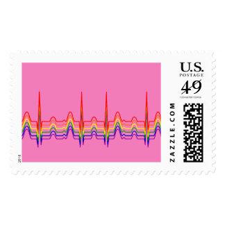 Regenbogen EKG Briefmarke