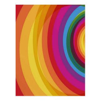 Regenbogen-Eklipse Postkarte