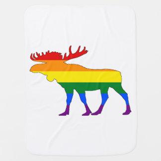 Regenbogen-Elche Babydecke