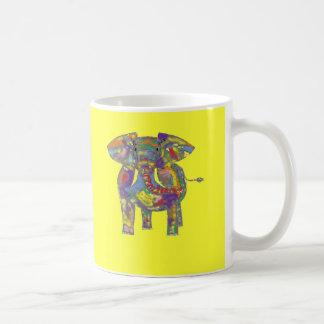 Regenbogen-Elefant, bunter Entwurf, für jedermann Kaffeetasse