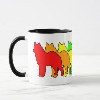 Regenbogen Elkhound Tasse