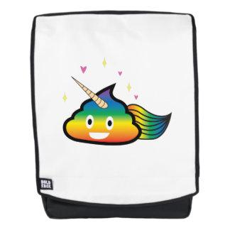 Regenbogen Emoji kacken niedliches Rucksack
