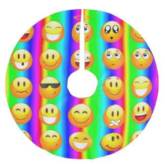 Regenbogen emoji Weihnachtsweihnachtsbaumrock Polyester Weihnachtsbaumdecke